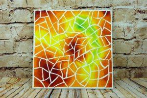"""Abstraktes Acrylbild selber malen Motiv """"Mosaik-Splitter"""""""