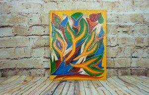 Abstraktes Acrylbild auf Leinwand 40 x 50 cm