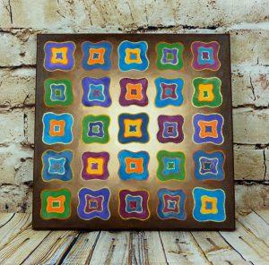 Acrylbild auf Leinwand 40 x 40 cm mit abstrakten Vierecken
