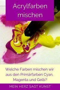 Acrylfarben mischen mit aus Cyan, Magenta und Gelb