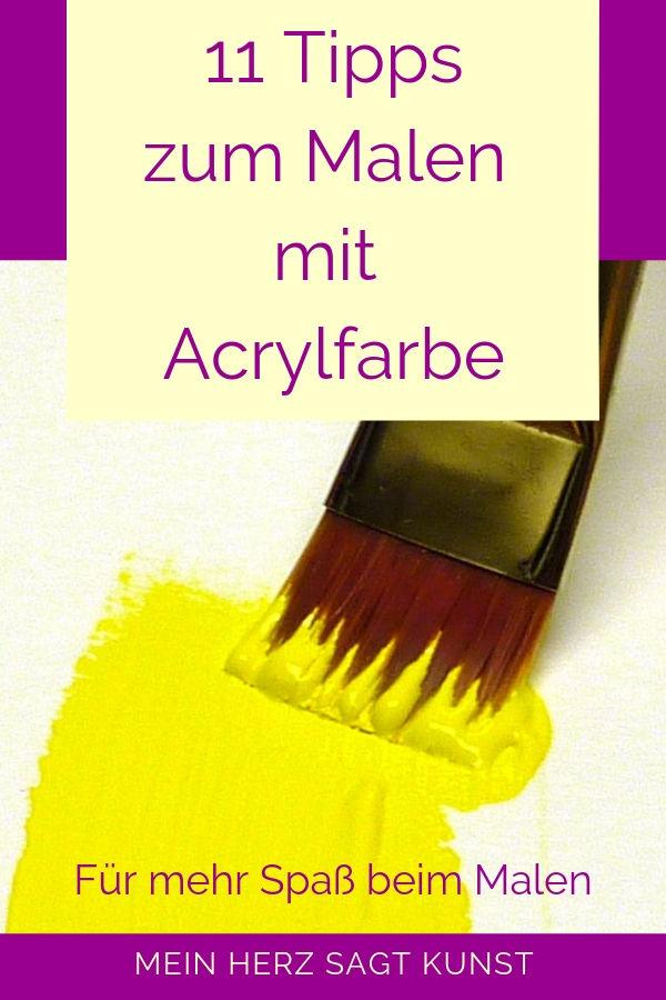 Acrylmalerei lernen: 11 Tipps zum Malen mit Acrylfarbe für mehr Spaß beim Malen