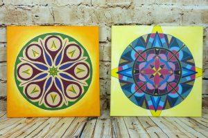 Mandalas malen mit Acrylfarbe - einfache Acrylbild Idee mit Anleitung