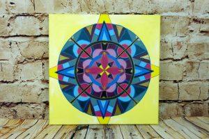 Acrylbild mit Mandala auf Leinwand 40 x 40 cm