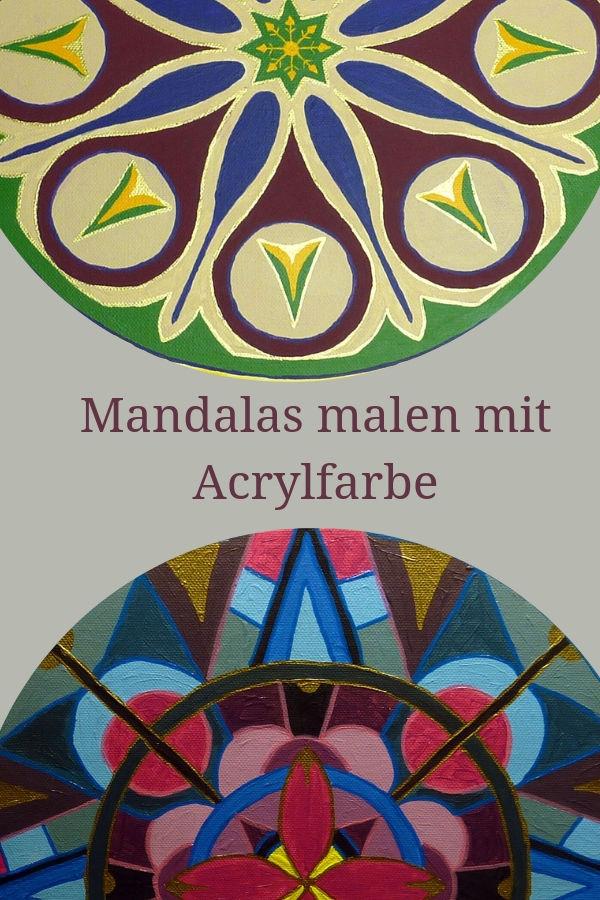 Mandalas malen mit Acrylfarbe