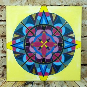 Mandala Acrylbild auf Leinwand 40x40cm
