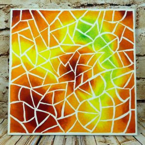 "Abstraktes Acrylbild auf Leinwand 40x40cm ""Mosaik Splitter"""