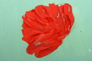 Leichtstrukturpaste eingefärbt mit Acrylfarbe
