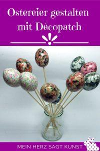 Ostereier mit Décopatch