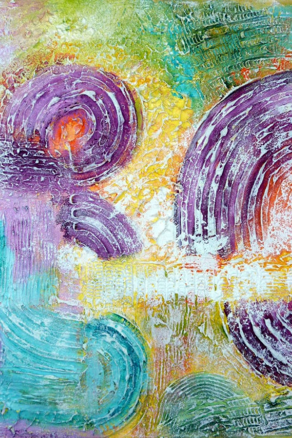 Abstrakte Bilder Mit Strukturpaste Selbst Malen Mein Herz