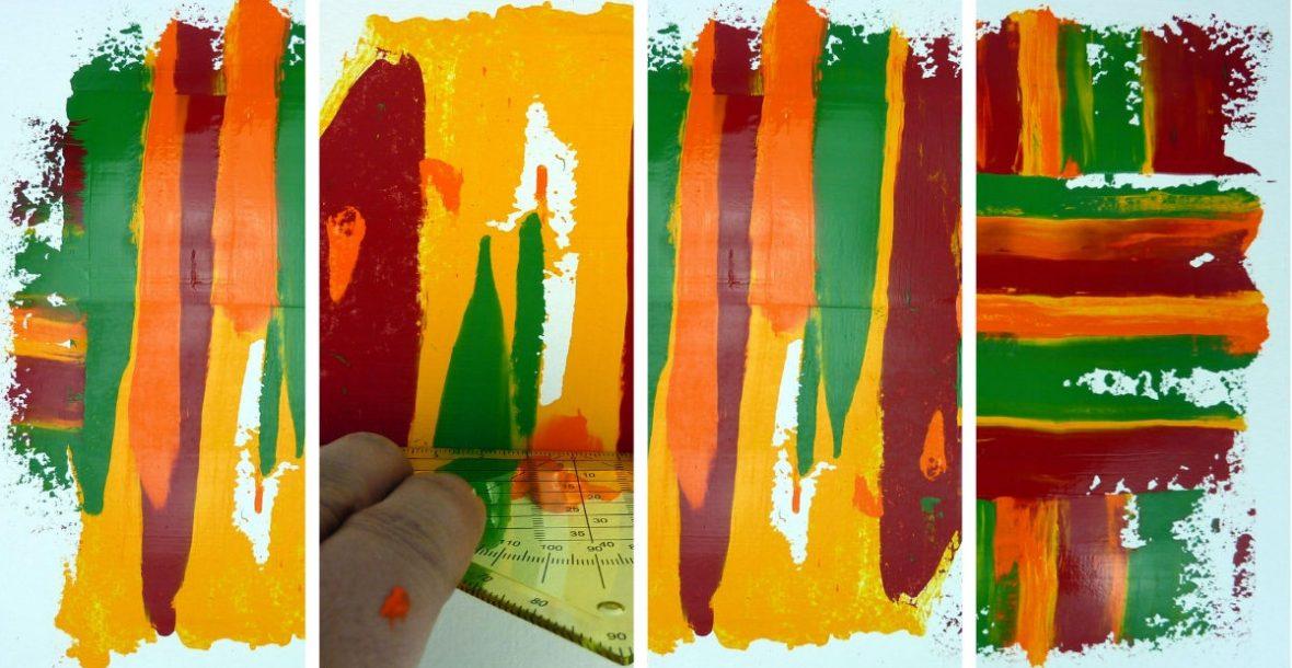 Geschabte Effekte mit Acrylfarbe - Mit kostenloser Anleitung!