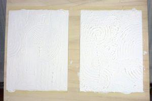 Acrylbilder mit Struktur aufgespannt auf Holz