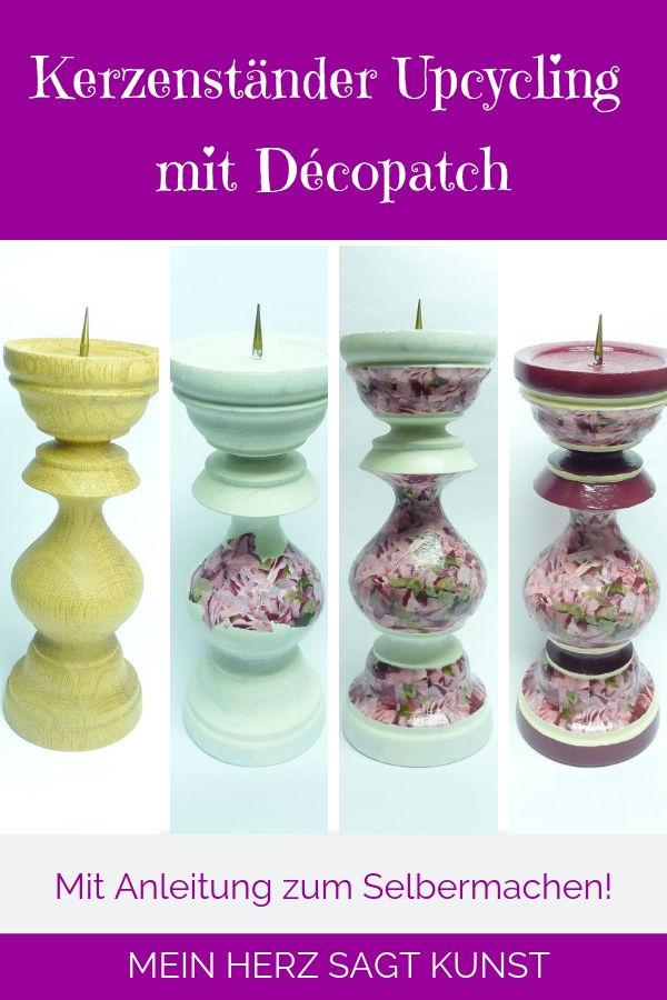 Décopatch Kerzenständer Anleitung zum Selbermachen!