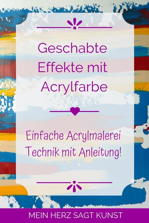 Acrylmalerei Technik: Geschabte Effekte