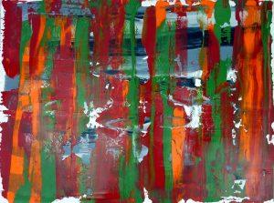 Geschabter Effekt mit Acrylfarbe - zweite Schicht