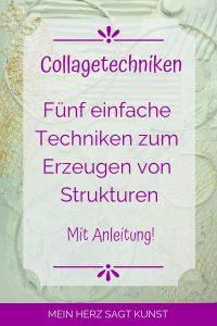 Collagetechniken zum Erzeugen von Strukturen