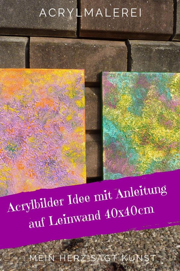 Abstrakte Acrylbilder mit Struktur