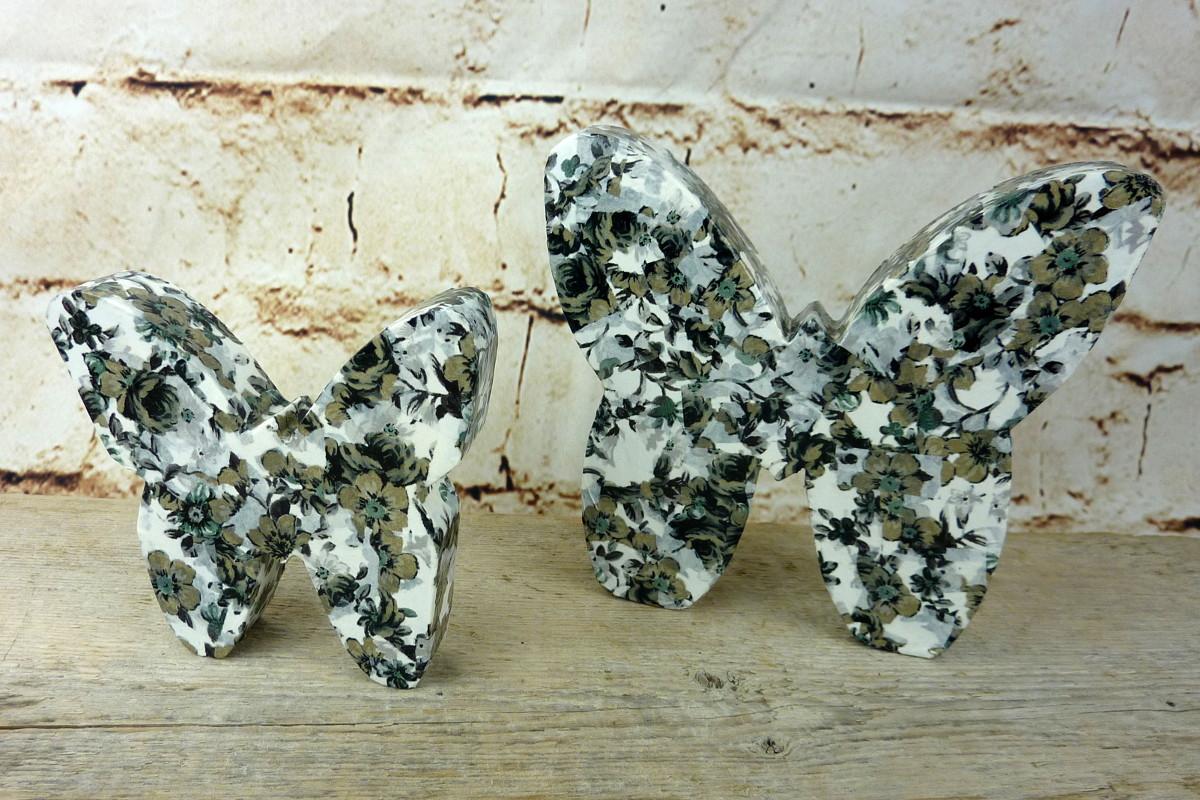 Schmetterlinge aus Holz mit Décopatch