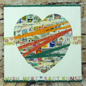 Briefmarken Collage Herz