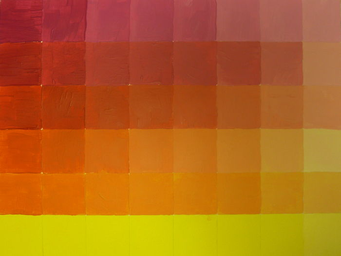 Orange aufhellen mit Weiß als Farbmodulation