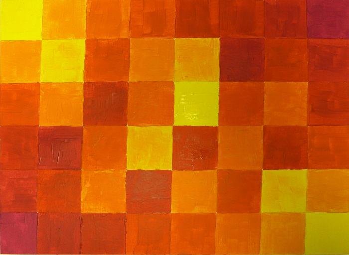 Orangetöne mischen aus Primär-Gelb und Primär-Magenta