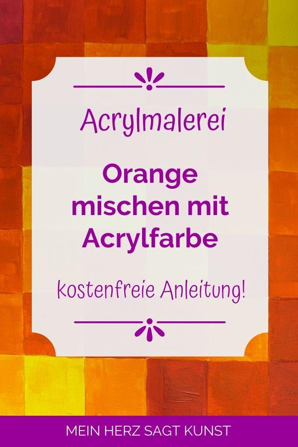 Orange mischen mit Acrylfarbe