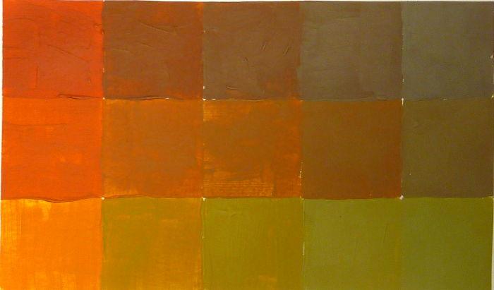 Orange mit grau abtönen