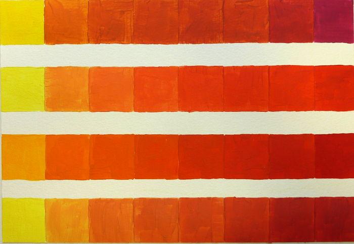 Farbmodulation Orange mischen