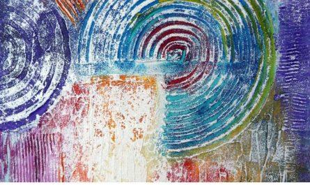 Abstrakte Bilder mit Strukturpaste