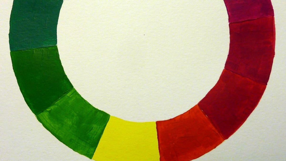 Farbkreis malen mit Acrylfarbe