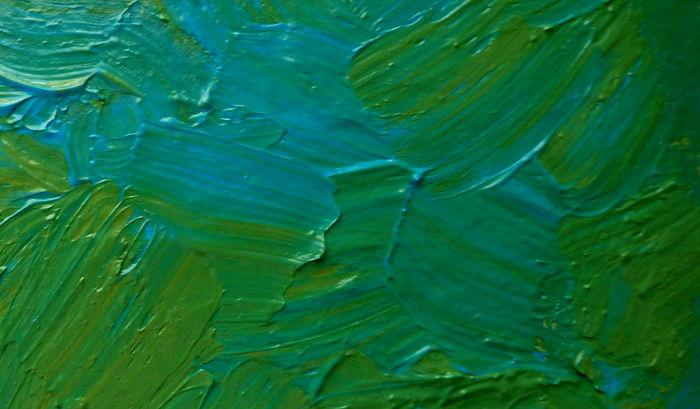 Impasto Technik - Acrylfarbe mit Pinsel aufgetragen
