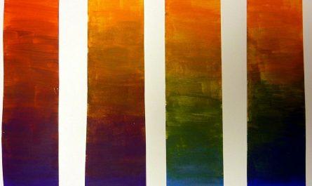Orange mischen mit Acrylfarben