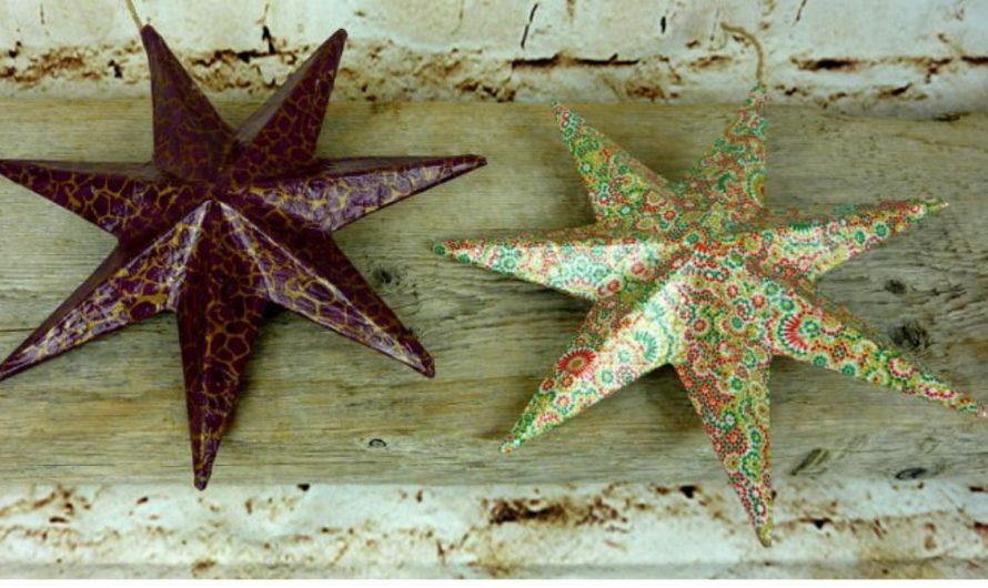 Pappmache Sterne mit Decopatch – Weihnachtsdeko ganz einfach selbstgemacht!