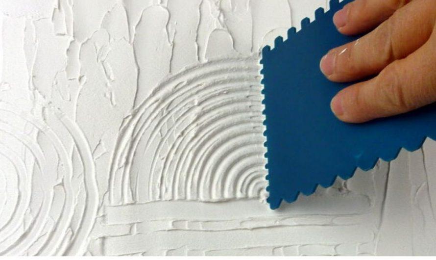 Reliefartige Oberflächen erzeugen mit Leichtstrukturpaste