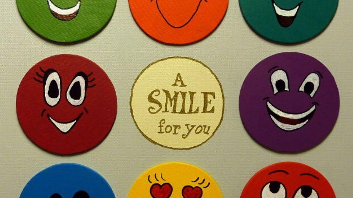 Acrylbild Idee Smiley Magnetbild Beitragsbild