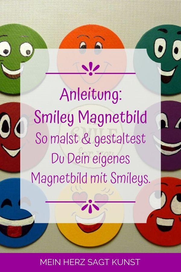 Smiley Magnetbild Anleitung auf Pinterest pinnen
