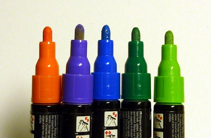 Marker 4mm in unterschiedlichen Farben