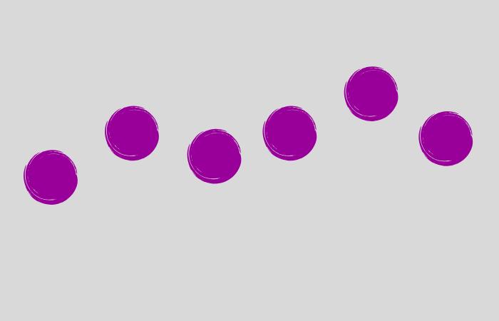 Punkte bilden eine Linie