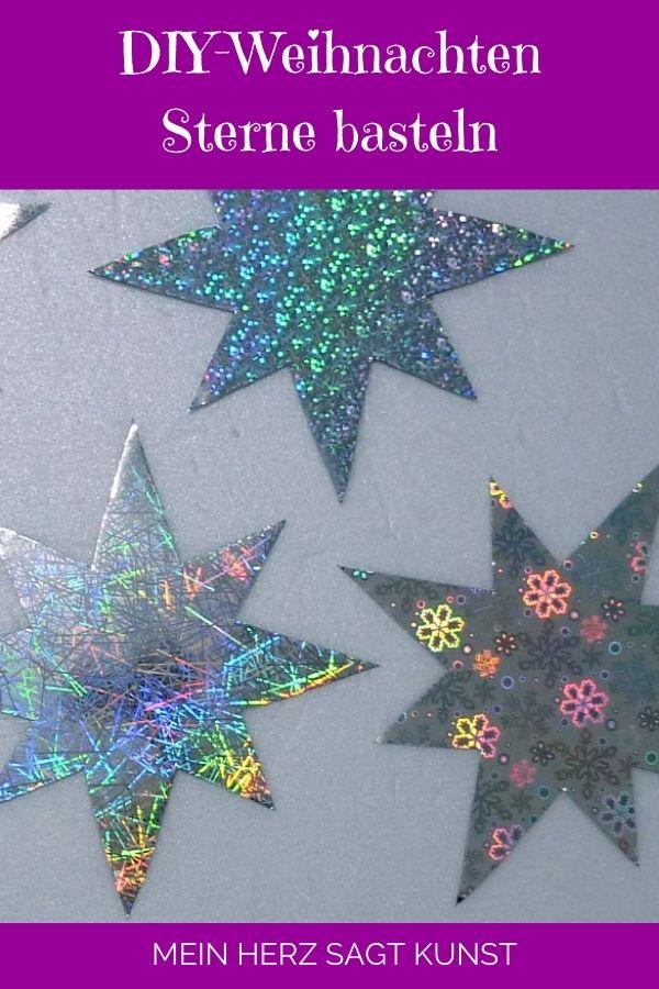 DIY-Weihnachten: Sterne basteln mit Effektfolie