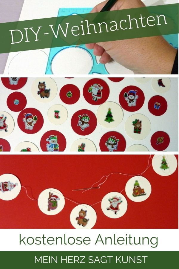 Girlande basteln - DIY Weihnachten