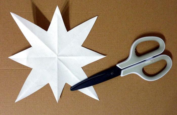 Stern Schablone aus Papier