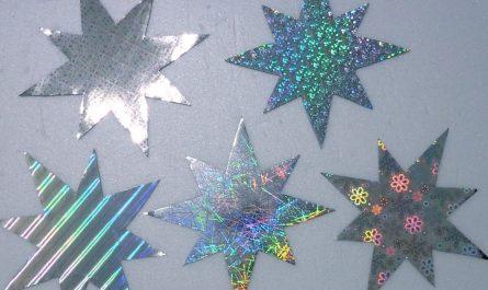 Sterne basteln mit Effektfolie - DIY Weihnachten
